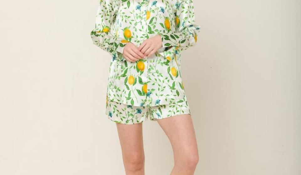 Pyjama aus 100% Seide